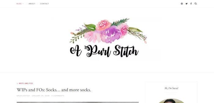 A Purl Stitch