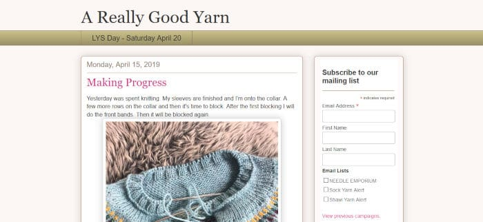 A Really Good Yarn