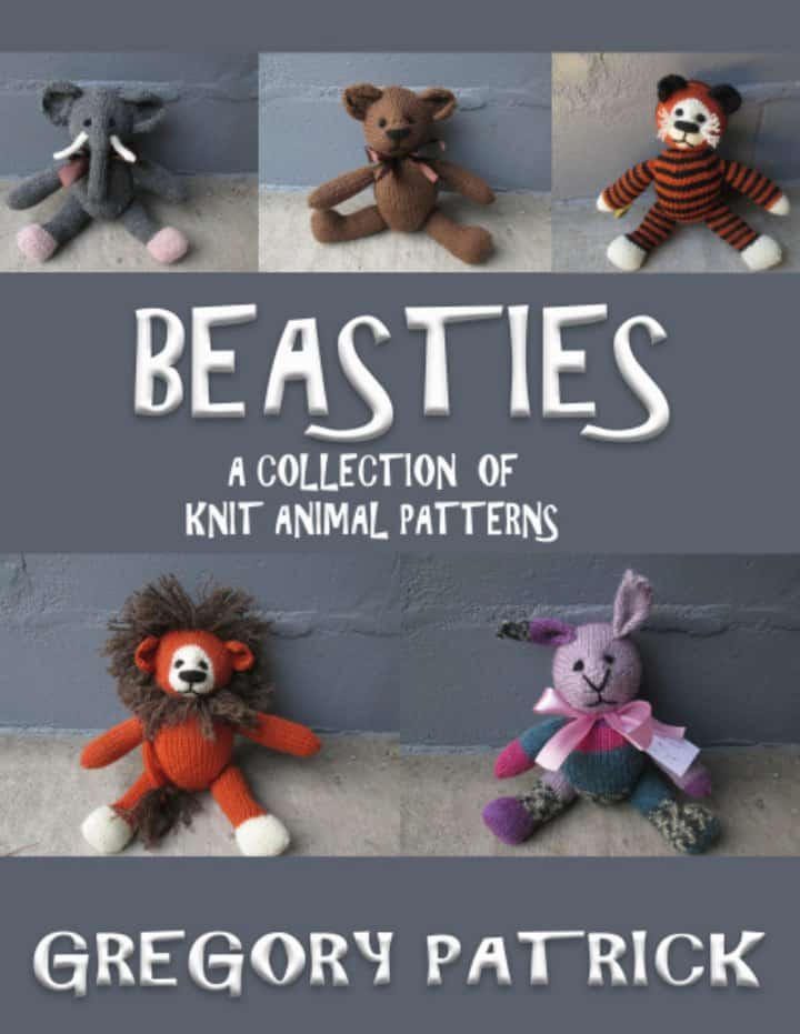 Gregory from Mad Man Knitting is offering the pdf of his book of animal patterns for $5. Its 44 pages, includes the patterns for a lion, bear, tiger, rabbit, and elephant. And each of the animals takes only a day to make. It also includes a link to a 40 minute video tutorial on how to stuff, sew, and embroider them. The price is valid until Christmas. Please share with all your knitting loving friends.