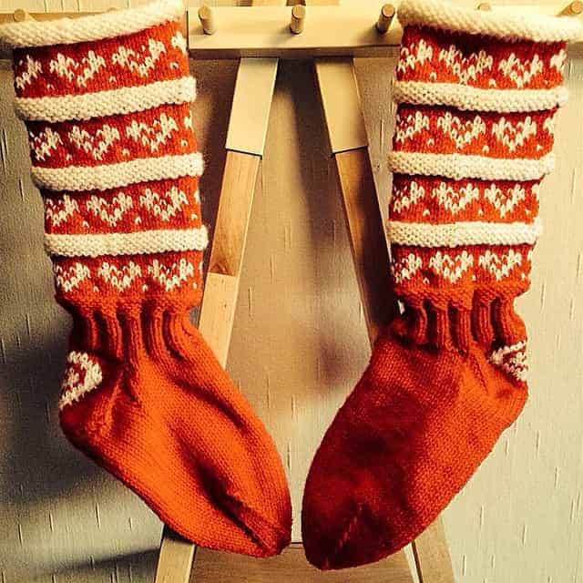 Gorgeous knitted stockings @woolbaa