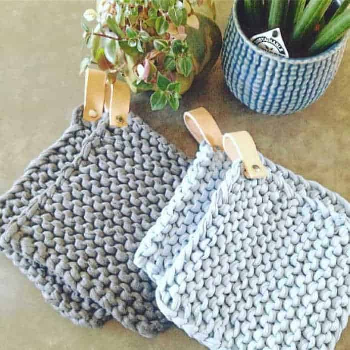 Knitted Potholders by Gitte Herlov Birkmose