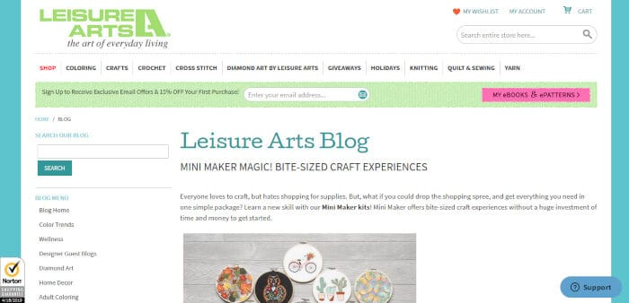 Leisure Arts Blog
