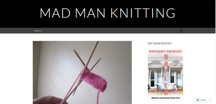 Mad Man Knitting