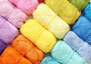 Multicolored Cotton Yarn