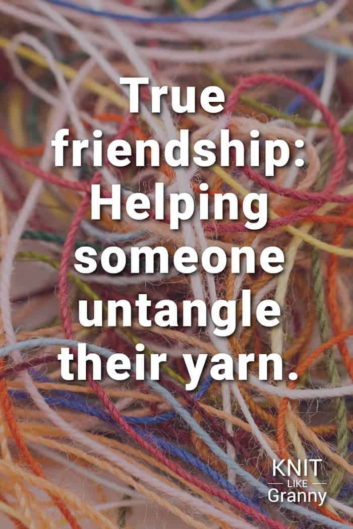 True Friendship Helping Someone Untangle Their Yarn
