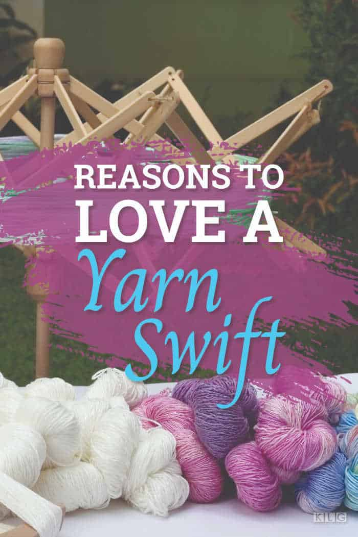 Yarn Swift and Hand dyed yarn skeins
