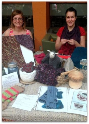 Karla and Emily from Relentless Knitting Podcast