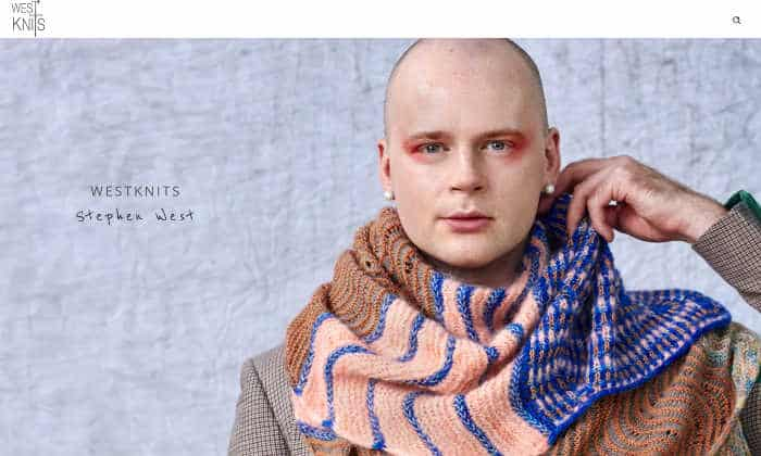f04937b8227 About West Knits  Stephen loves to designs wild and bold creations  including shawls