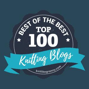 Top 100 Knitting Blogs Badge