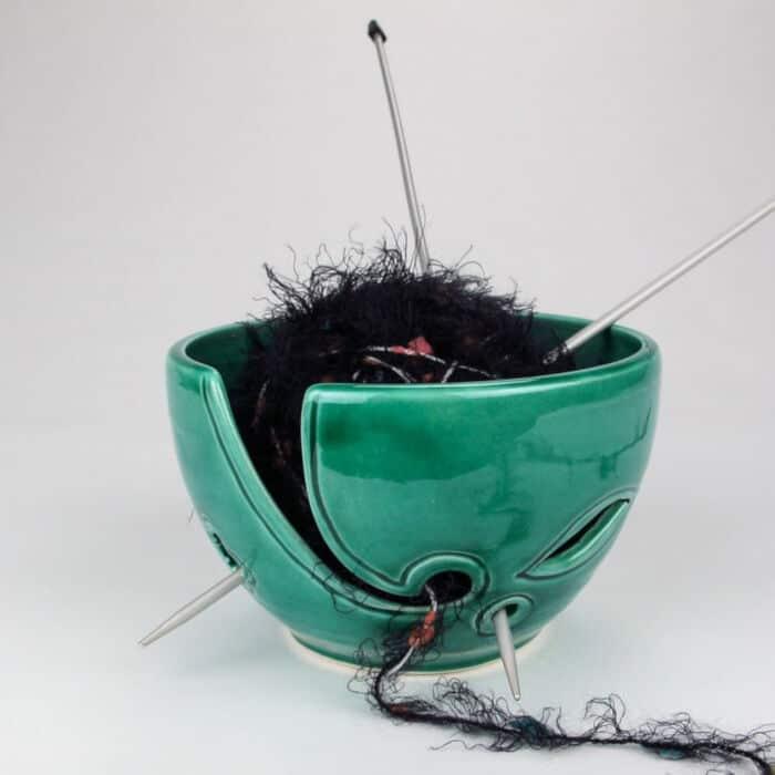 Emerald-Green-Yarn-Bowl