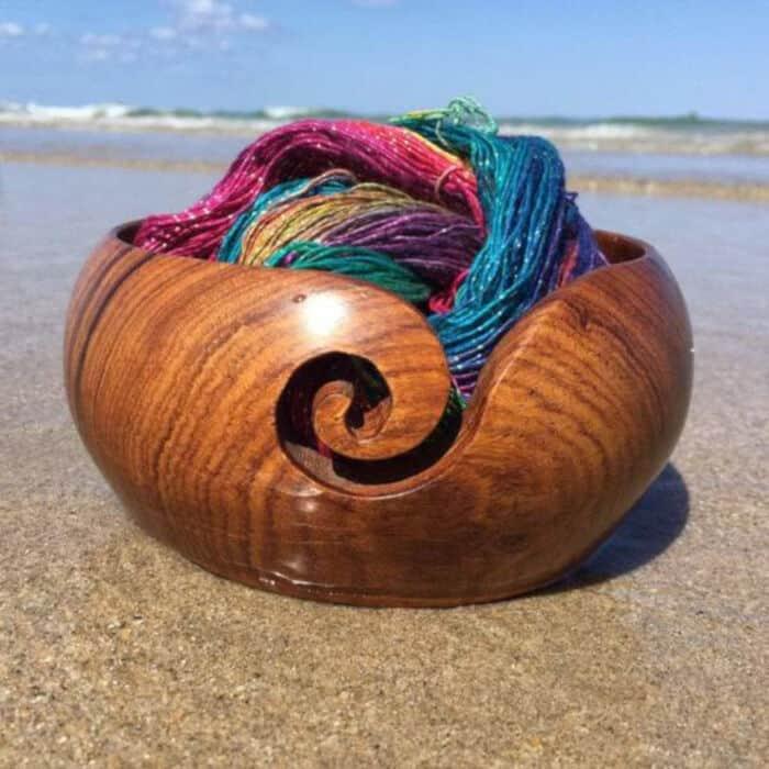 Handmade-Wooden-Yarn-Bowl