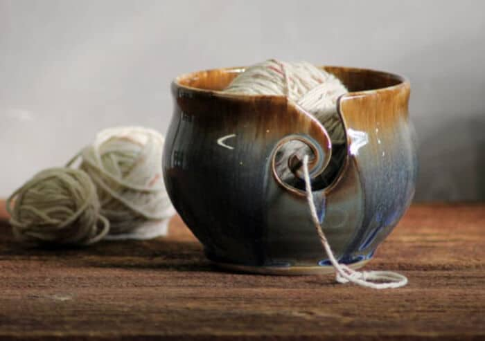 Handthrown-Stoneware-Volcano-Blue-Grey-Yarn-Bowl