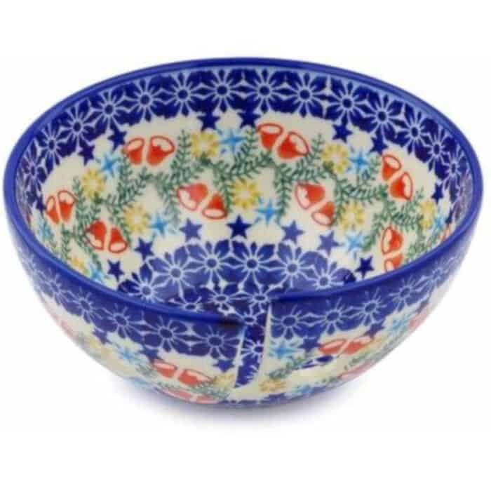 Polish-Pottery-6-Yarn-Bowl-Wreath-Of-Bealls