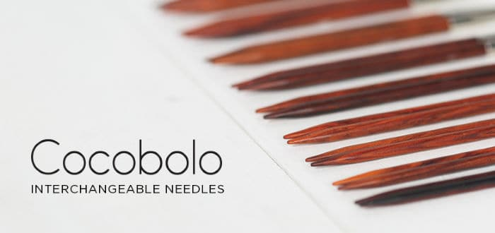 Cocobolo needles from Knit Picks
