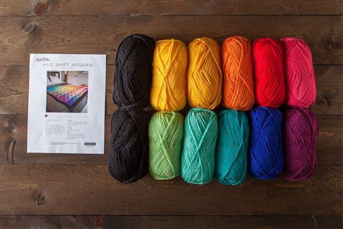 Knit Picks Rain Hue Shift Afghan