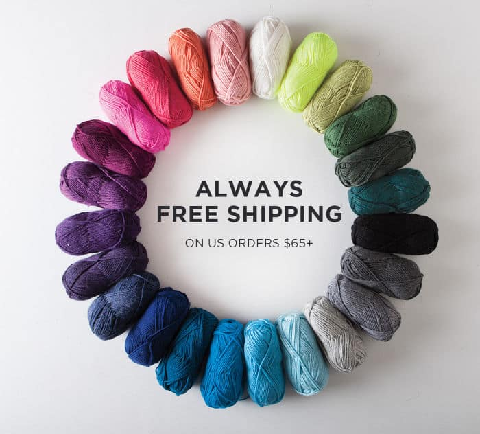 Knit Picks Free shipping with orders over $65 USD