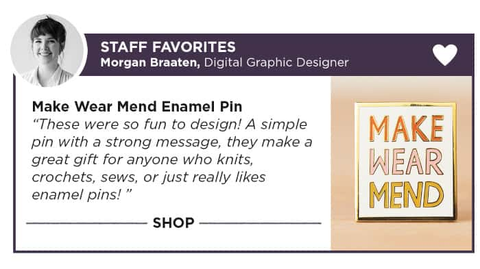Knit Picks Enamel Pins for crafters
