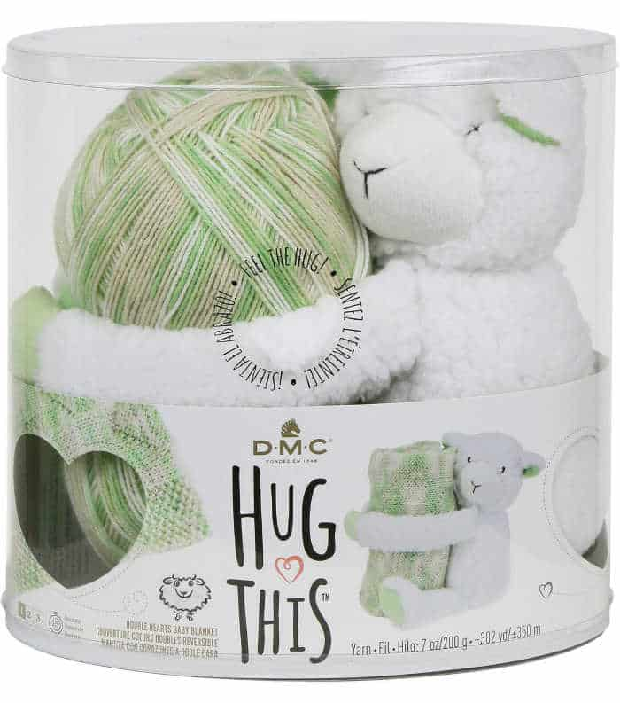 DMC Hug This! Lamb Double Hearts Baby Blanket