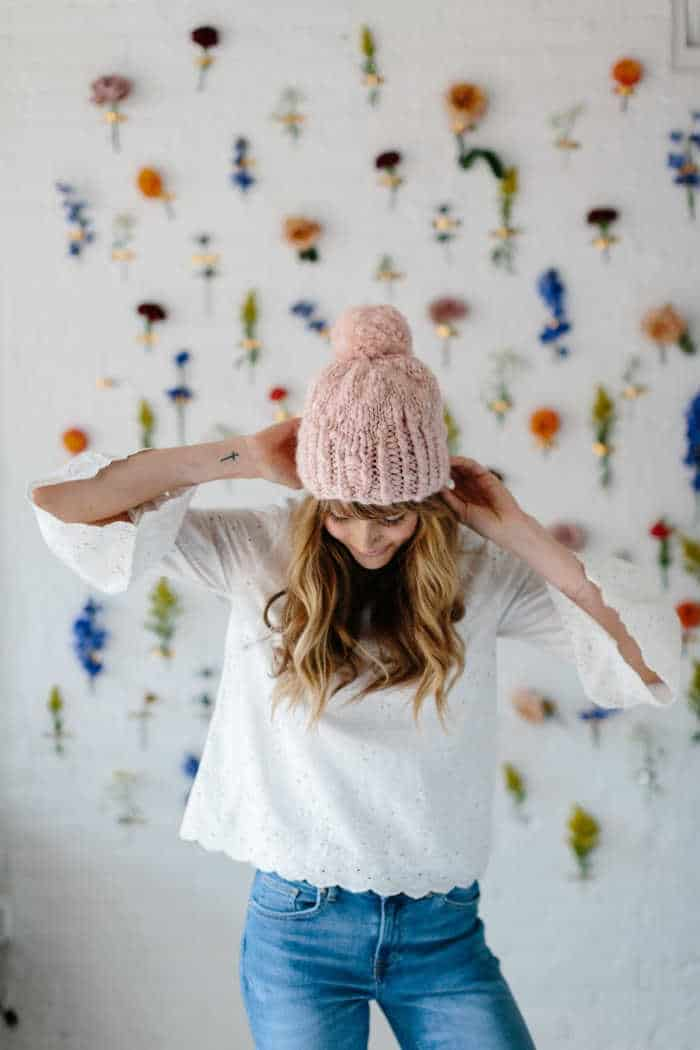 Knit Collage Into The Woods Hat Kit