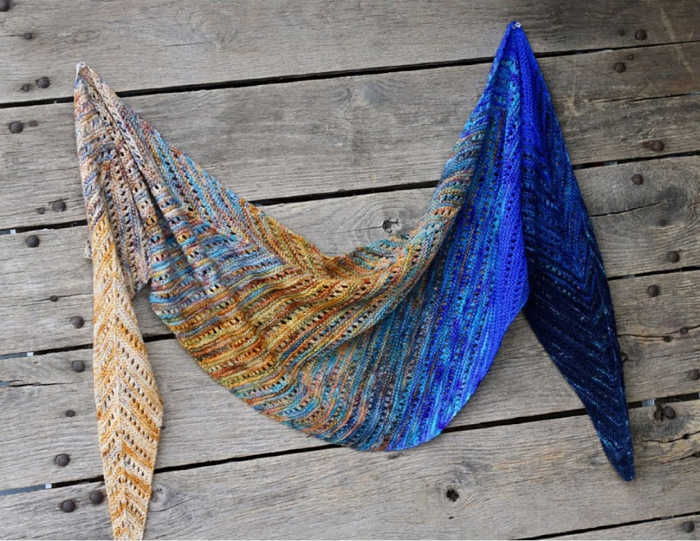 Koigu Venation Shawl