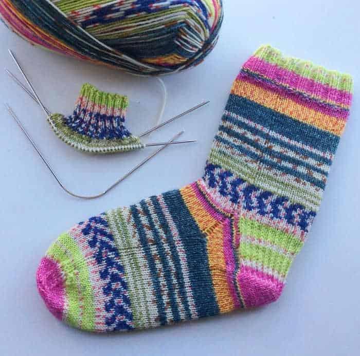 @CrochetLoveMelbourne loves her addi flexifips for knitting socks