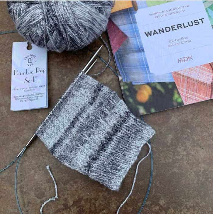 @suzyquilter working a gorgeous sock project on addi needles