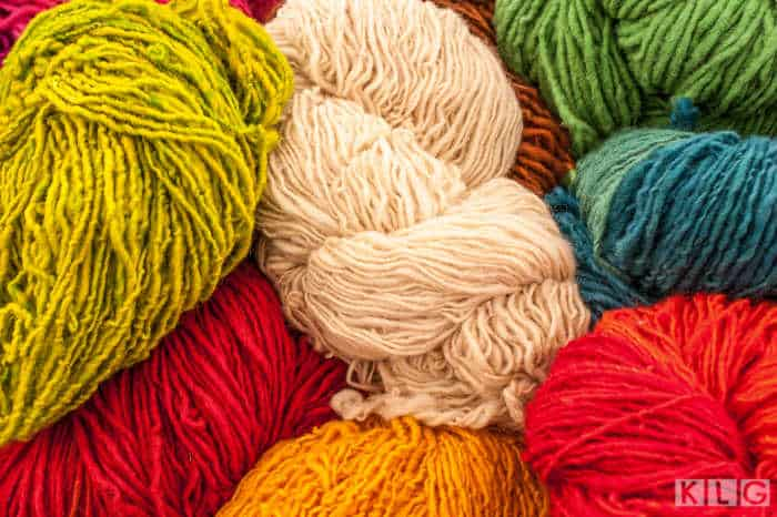 Skeins of Colorful Yarn