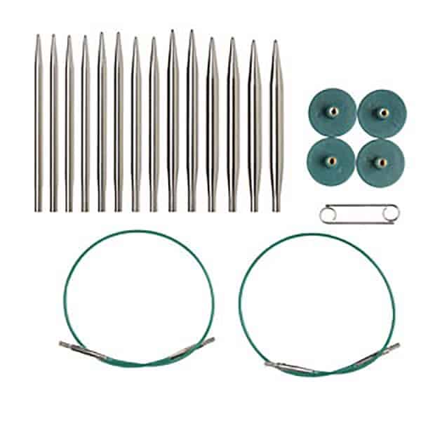 Knit Picks Nickel Short Interchangeable Needles