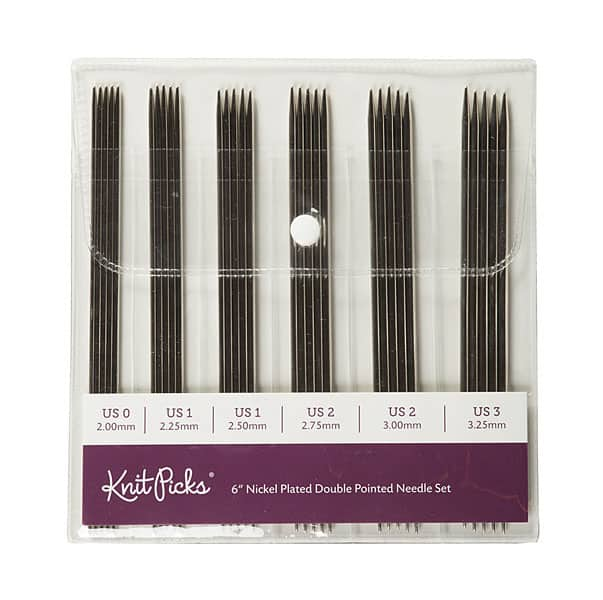 KnitPicks Nickel Plated Double Pointed Needles Set
