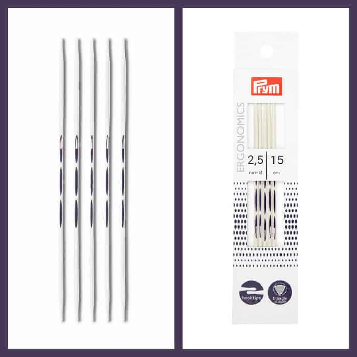 Prym Ergonomic Double Pointed Needles