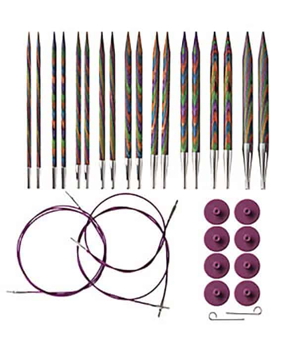 Knit Picks Rainbow Wood Interchangeable Knitting Needles