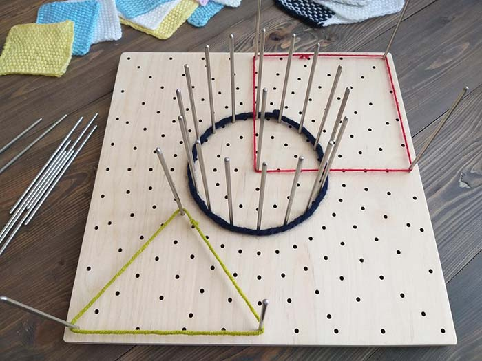Wooden Blocking Board with Stainless Steel Pins by HiBusyBees