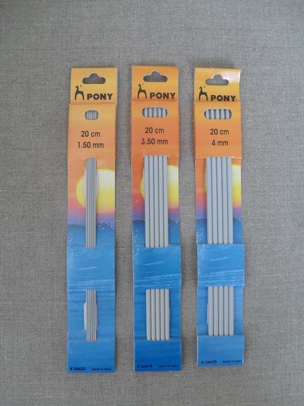 Pony Double Pointed Aluminum Knitting Needles