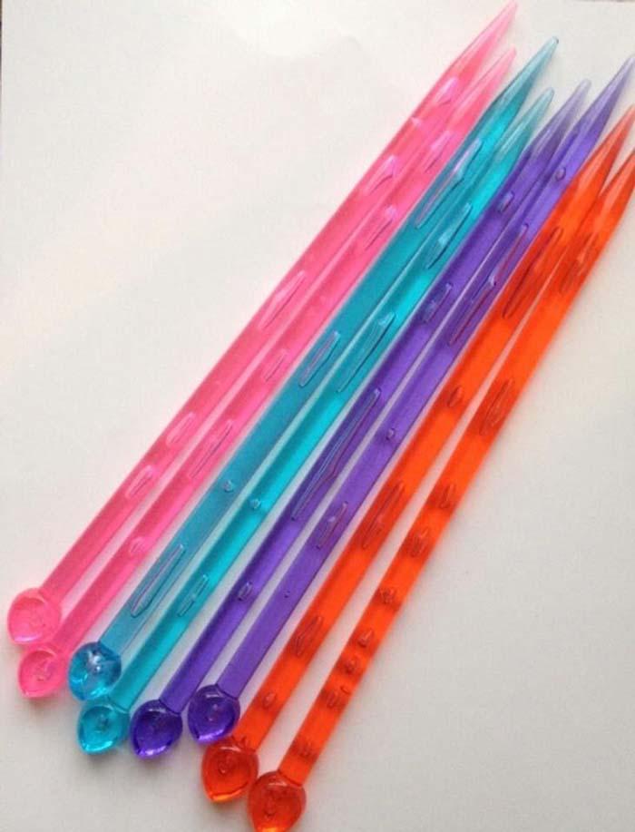 """9"""" Acrylic Single Pointed Knitting Needles"""
