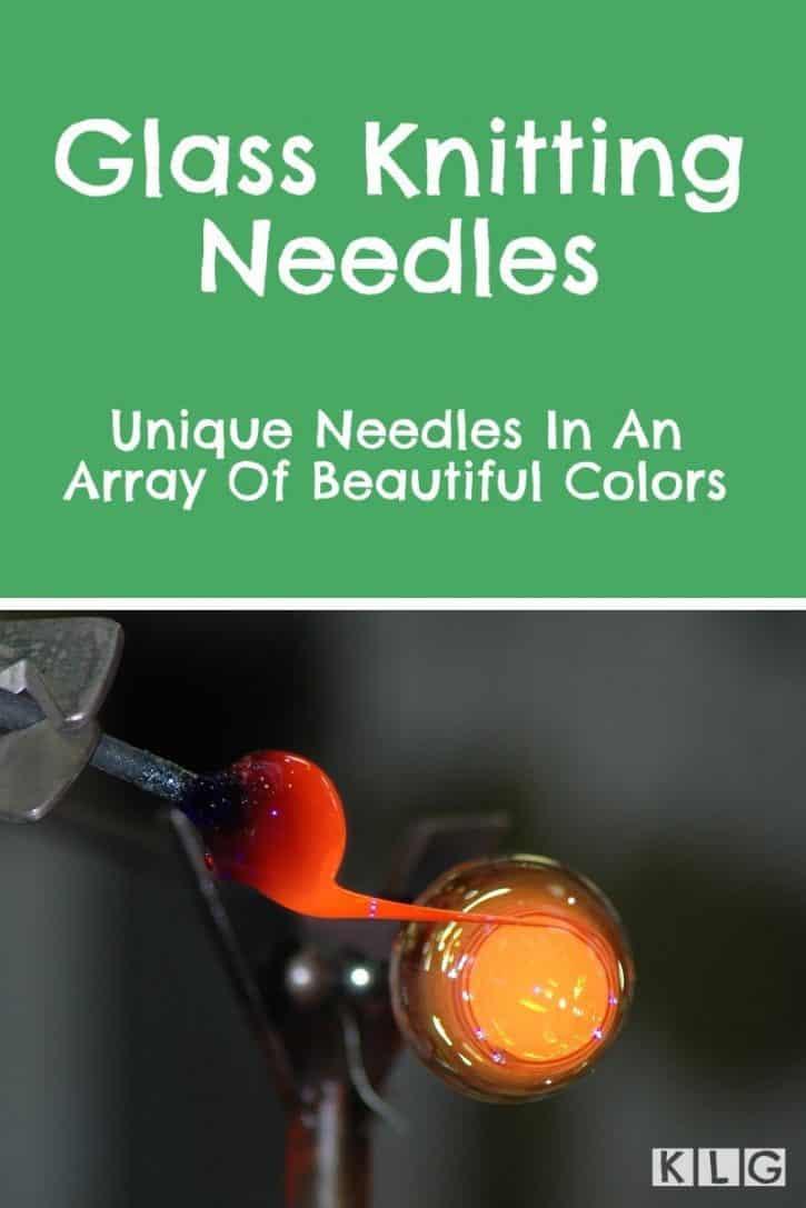 Glass Knitting Needles Pin