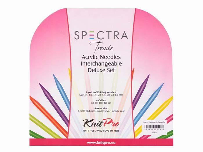 KnitPro Trendz Interchangeable Circular Needles Deluxe Set