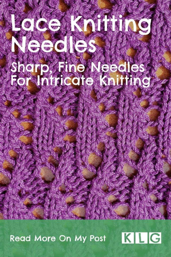 Lace Knitting Needles Pin