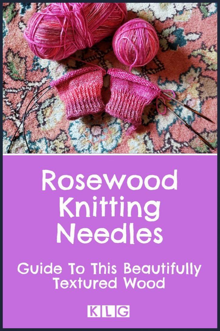 Rosewood Knitting Needles Pin