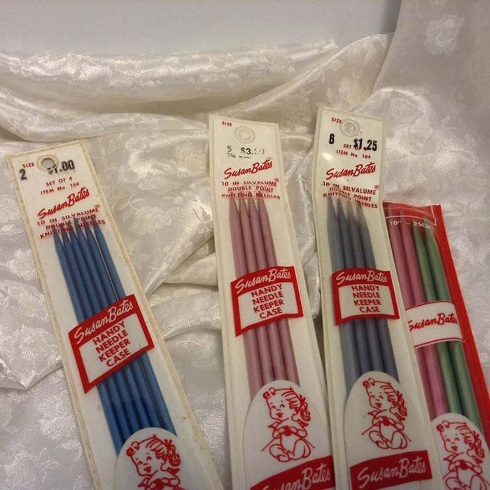 Vintage Susan Bates Double Pointed Knitting Needles