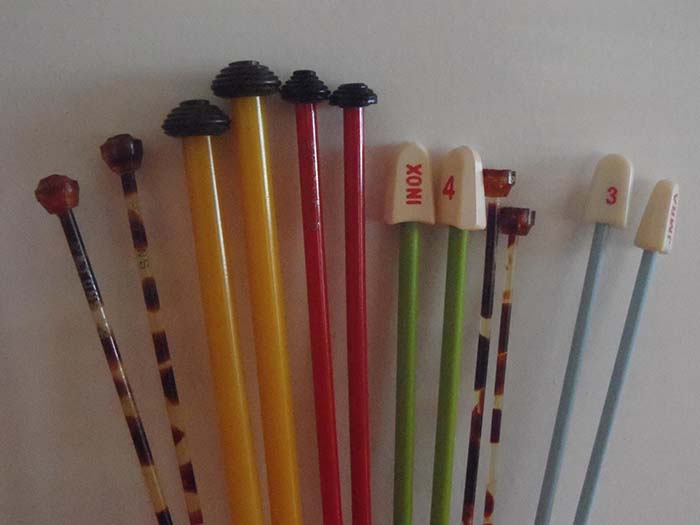 Vintage Knitting Needles Collection Including Straight Casein Knitting Needles