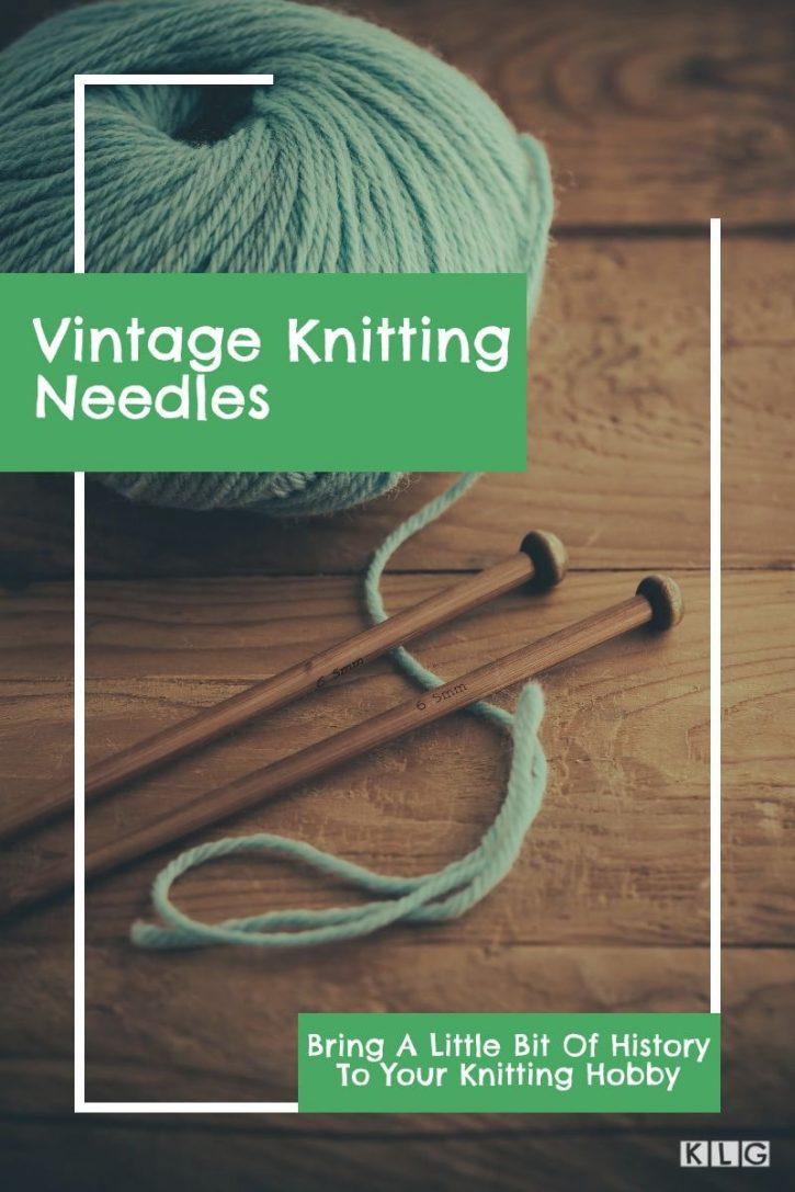 Vintage Knitting Needles Pin