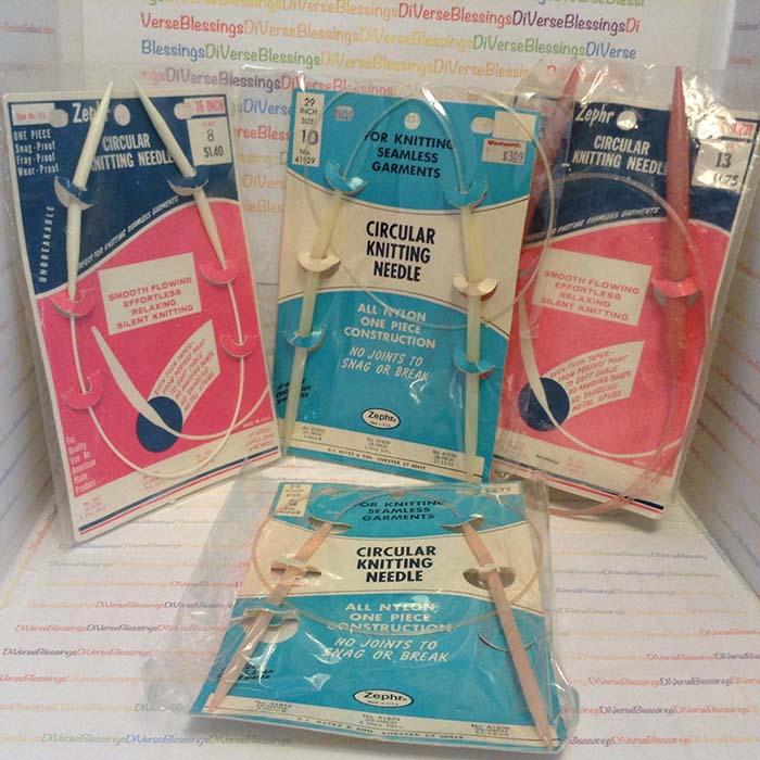 Zephr Knitting Needles Vintage