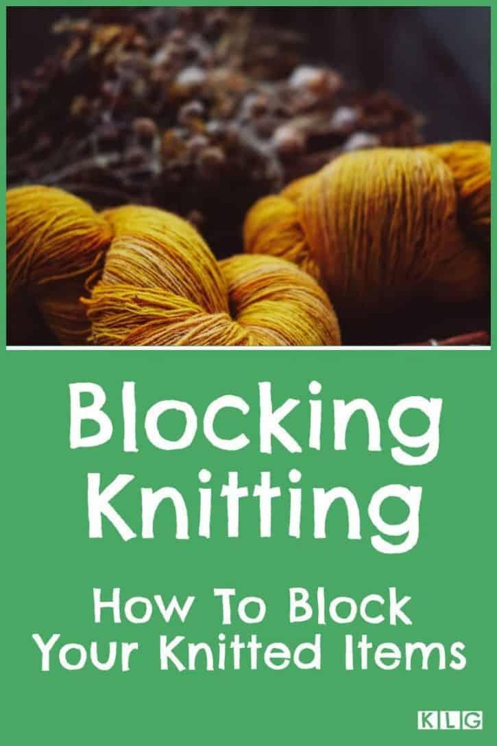 Blocking Knitting Pin