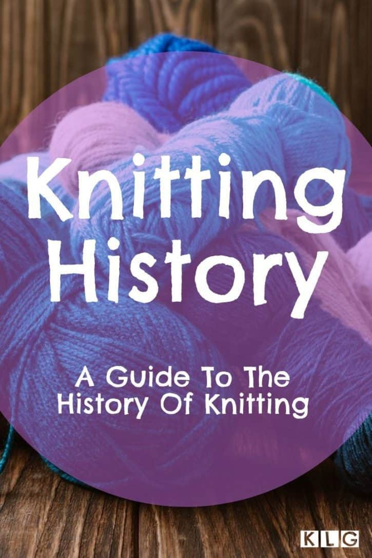 Knitting History Pin