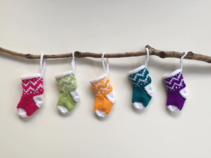 Knitted mini Stockings by BeeDee Collections