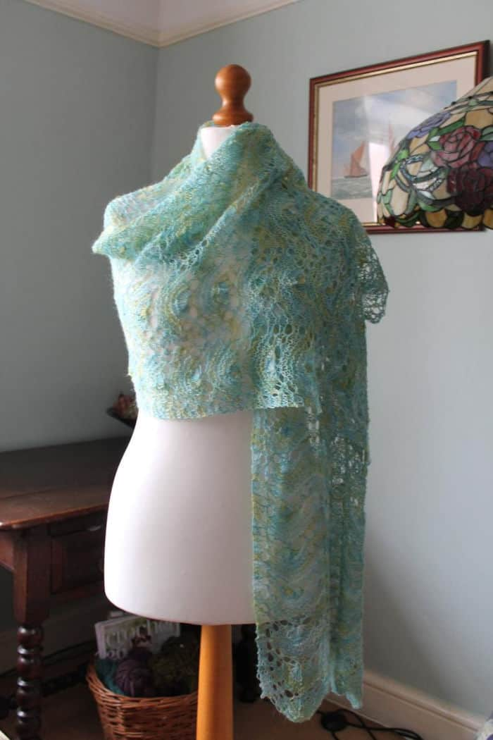 Mermaid Wrap Knitting Kit by Lace Knittery