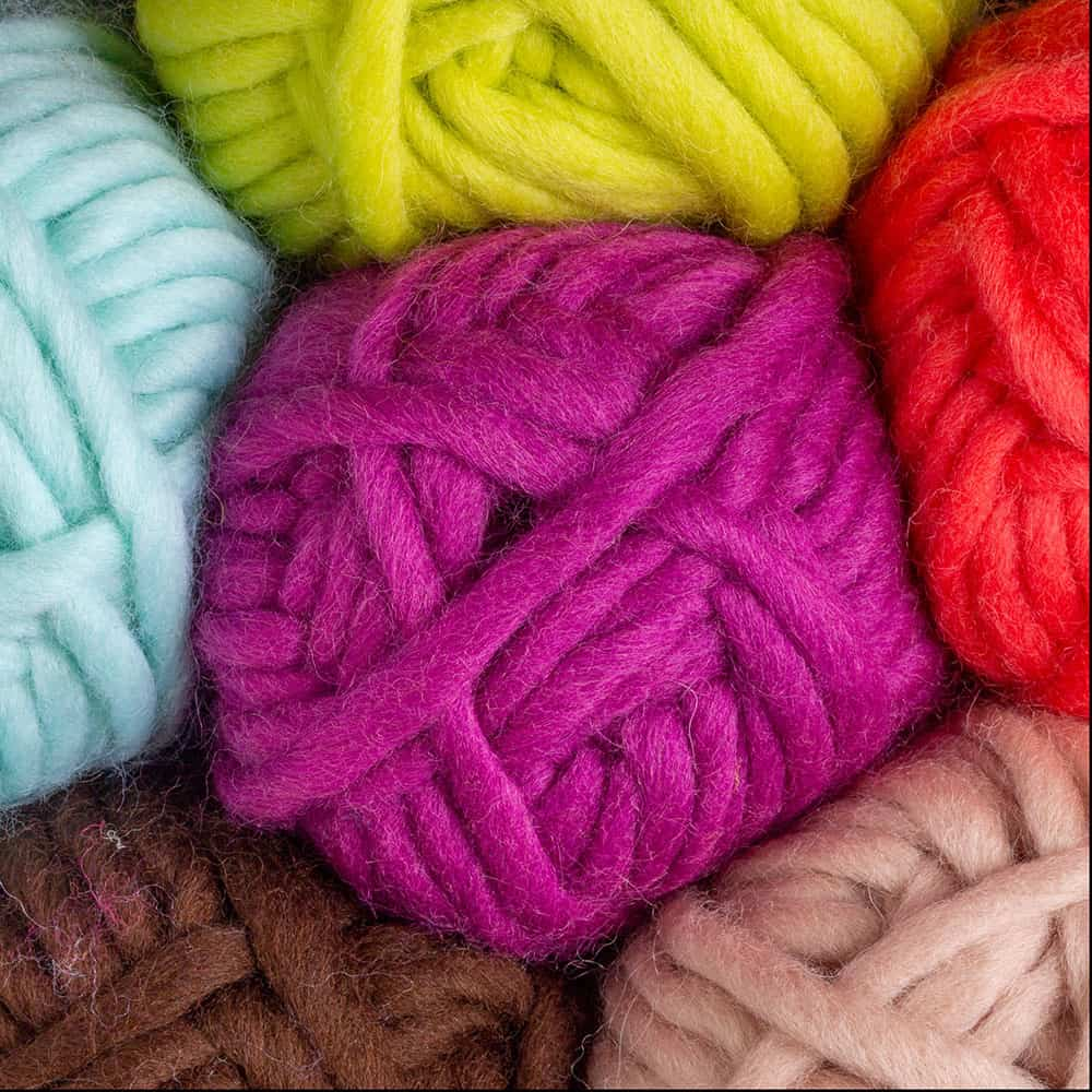 Knit Picks Tuff Puff 100% Wool Super Bulky Yarn in different colors