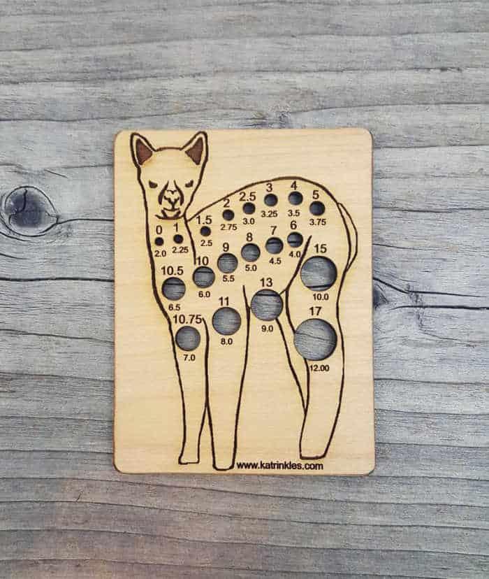 Katrinkles Alpaca Knitting Gauge