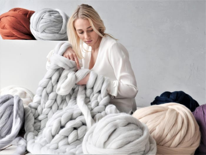 Wool Experts Giant Merino Wool for chunky arm knitting or knitted blankets