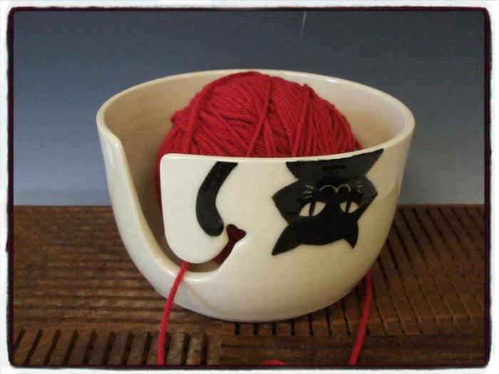 Cat Yarn Bowl by Misunrie